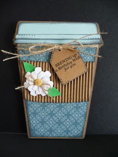 Bug n Me Creations: The Cutting Cafe Coffee Cup Shaped Card