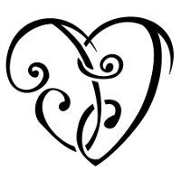 Heartigram tattoo. They take letters and put them together in the shape of a heart. This one is J+J the name of my nephew. I really want one of these.