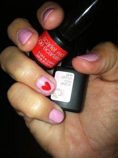 Pink Chiffon + Hearts Manicure via @DarlingBlog