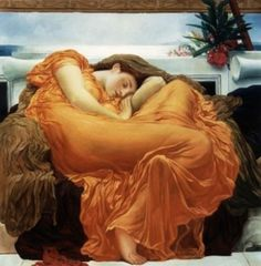 Leighton's Flaming June ~ A swirling curve at rest