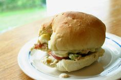 Tuna 'n' Egg salad recipe of amazingness.  On a sandwich or alone (hello gluten free), it was amazing.