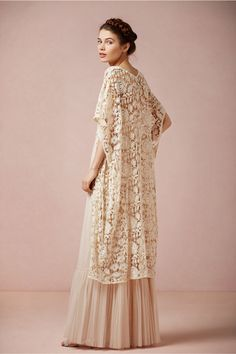French Lace Cotton Cover-up, BHLDN Rose Garden Cape