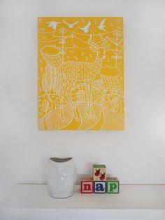 Original Painting on Canvas - Sunshine Yellow