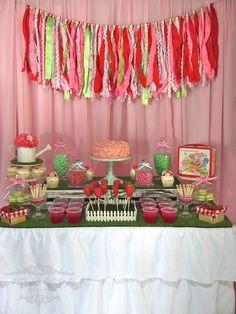 Vintage Strawberry Shortcake Party #strawberryshortcake #party