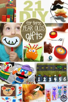 Gifts to make for three year olds - tons of homemade gifts for 3 year old kids!