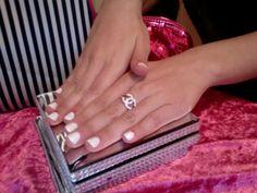 White Nails. MagicManicure colour shade SNOW WHITE