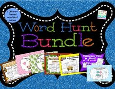 Word Hunt Bundle Set - This is a Bundled set of 7 of my popular magnifying glass word hunt games. Save 27% buying these products bundled. (Kindergarten and First Grade Sight Words) $