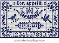 Free Sajou cross-stitch patterns.