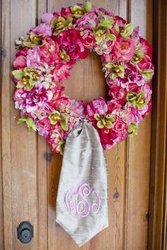 monogramed wreath