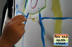 Pink and Green Mama: Mouse Painting With Cotton Balls and Q-Tips