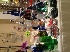 Slumped bottles by The Beaded Bottle! Available at Pizazz in Worthington at the shops at Worthington!