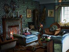 Dita von Teese's home. stunning.