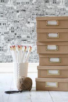 craft boxes, desk accessories, storage boxes, office storage, organization crafts, kraft paper, paper boxes, paper storage, decorating crafts