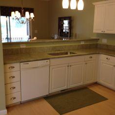 Namibian green granite countertops kristin 39 s kitchen for Kitchen designs namibia