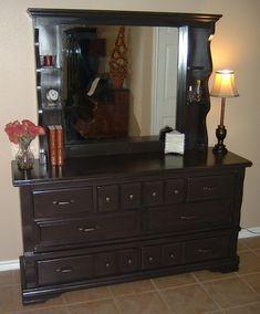 Redone dresser. Bedroom inspiration.