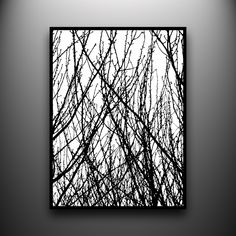 Branches 1: 18x24 Hand-Cut Paper Art, framed and one-of-a-kind. $1,200.00, via Etsy.