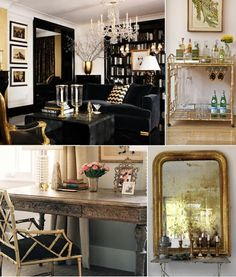 gold accents. And BLACK!