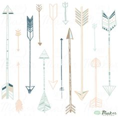 Decorative arrow designs by Amanda Shoemaker of Shh! Maker Design