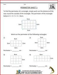 Perimeter Sheet 1, perimeter of rectangles