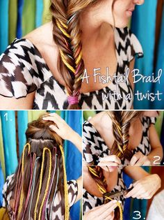 Hair DIY: A New Way To Do a Fishtail Braid.  Cute!!