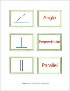 Common Geometry Symbols ~ FREE Printable -