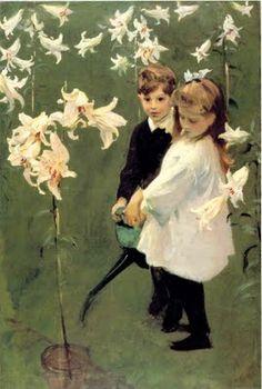 Garden Study of the Vickers Children, 1884, John Singer Sargent