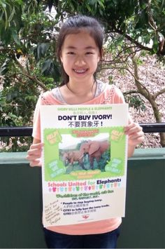 The Elephant Girl: Celia Ho—Celia, a young Chinese girl, launches a campaign to save African #elephants.