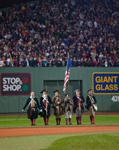 color guard, national anthem,Fenway Park St. Louis Cardinals against Boston Red Sox during