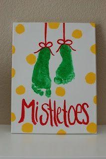 toe, kids christmas, footprint art, christmas crafts, footprint crafts