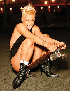 PINK-a-singer-with-a-skateboard-