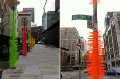 1000's of zip ties around lamp posts in NYC...could be something for the future....