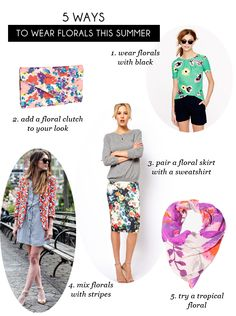5 ways to wear florals this summer // with an i.e.