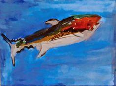 Una idea, mucho arte Acrílico sobre lienzo, 30 x 40 cm. Daniel, 6 años hijo de Sara Lew
