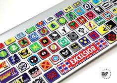 SUPERHERO ★ Macbook Keyboard Superhero Skin - by killerduckdecals on Etsy