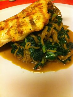 Hello Jody: HCG Phase 2 - Grilled Chicken with Apple Noodles and Kale Take out the oil and the sesame seeds to be Omni compliant.