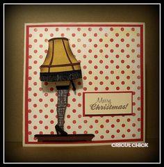Cricut Chick  - A Christmas Story Christmas Card with a wobble!  Tutorial!