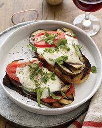 Open-Face Grilled Eggplant Sandwiches.