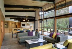 River Bank contemporary living room