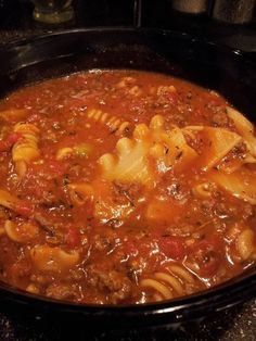 Lasagna Soup in the Crockpot