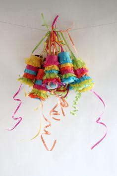 diy pull piñata garland