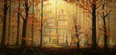 Forest village by *Blinck on deviantART