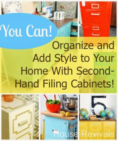 House Revivals: Super-Amazing Ways to Up-Cycle Filing Cabinets!