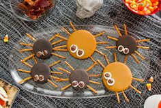 Grab one before they crawl away! Moon Pie Spiders are easy to make and more fun to eat. Insert pretzel sticks into the sides of the Moon Pie for legs. Using an icing tube, dab two dots of white icing on top and place a chocolate covered raisin in the icing for the eyes. You'll love the variety of tastes when you use original chocolate and Salted Caramel Moon Pies.