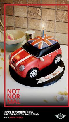Mini: Cake Advertising Agency: IRIS, London, UK #advertising #media #advertisement #marketing #poster #print #campaign #creative #creativity #ad #ads #mini #car #normal #cake