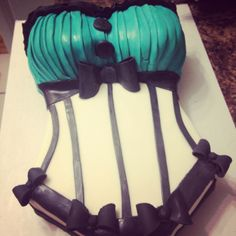 Bustier bridal shower cake. Perfect if you are having a lingerie party!!!