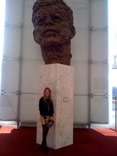 Gabi Hughes and JFK in Washington DC ~ Easter Sunday ~ 2013