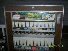 I remember when cigarette machines were in the lobby or front door of every restaurant, hotel, and bar.