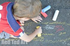 Make your own Sidewalk Chalk! Not only is it fun and satisfying to make your own jumbo chalks, but it is a fascinating experiment - watching the ingredients mix, heat up and harden.