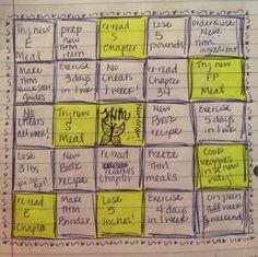"Fun THM game! Every time you get a ""bingo"" you reward yourself. :]"