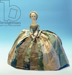 Letitia Penn doll (wood & textile), English school (18th century)  © Philadelphia History Museum at the Atwater Kent, / Courtesy of Historical Society of Pennsylvania Collection, / The Bridgeman Art Library. Doll belonged to the daughter of William Penn (1644-1718)